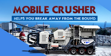 Mobile crusher helps you break away from the bound
