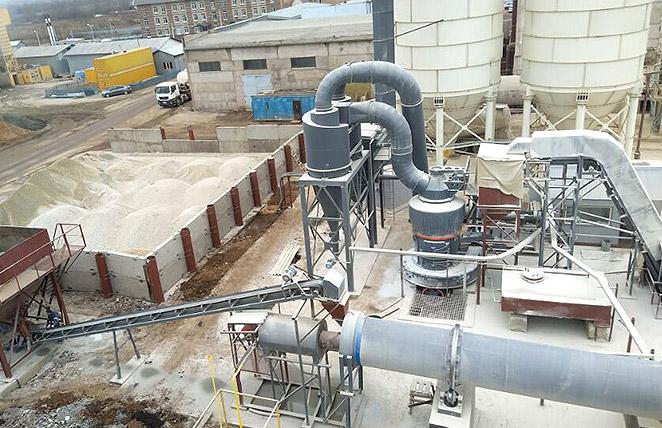 Ligne de broyage de 18-22tph série MTW175Z pour le traitement de calcaire en Russie