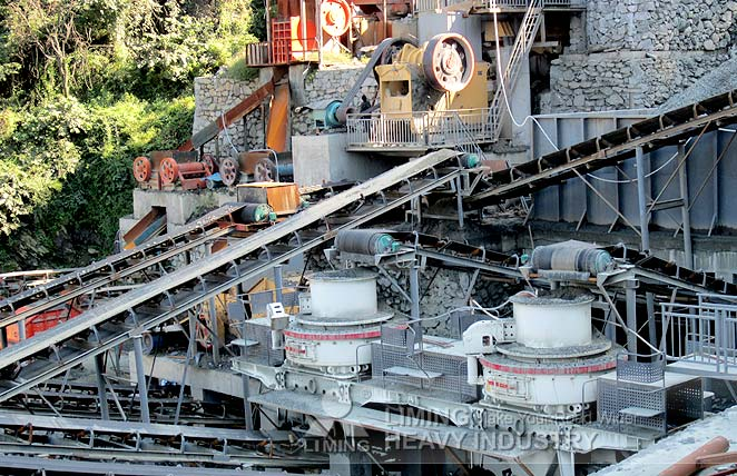 River stone crushing sand production line in Algeria