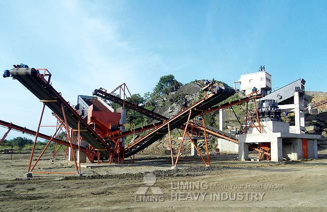 150 TPH rock crushing plant in Irkutsk, Russia
