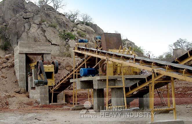 Ligne de production du calcaire de 150-200 TPH au Mozambique