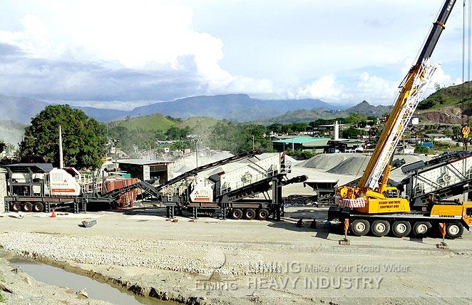 Site du concasseur mobile calcaire à Bintulu, Malaisie