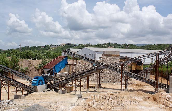 Ligne de production du sable de gravier de rivière en Jamaïque