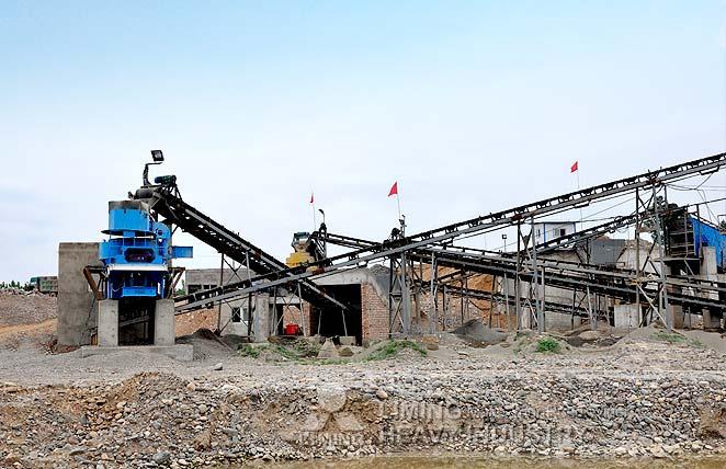 Station de concassage pierre pour le mélange du béton au Vietnam
