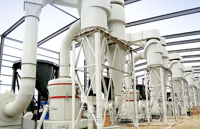 Ligne de production de poudre de carbonate de calcium au Mexique