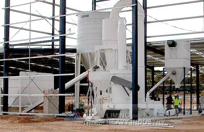 Station de broyage de la poudre de Kaolin au Nigeria