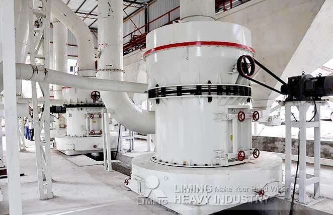 Ligne de production du calcaire en Irak