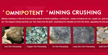Mining crushing processing technic and solution supplier