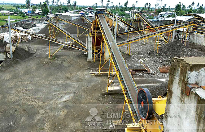 Complete crushing line for river stone in Philippines