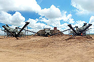 Complete Mobile Crushing Line f