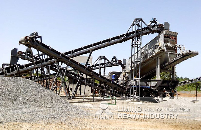 Complete Granite mobile Crushing and Screening Plant in Bamako, Mali