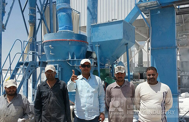 8-10tph TGM130X grinding mill for calcium carbonate in Egypt