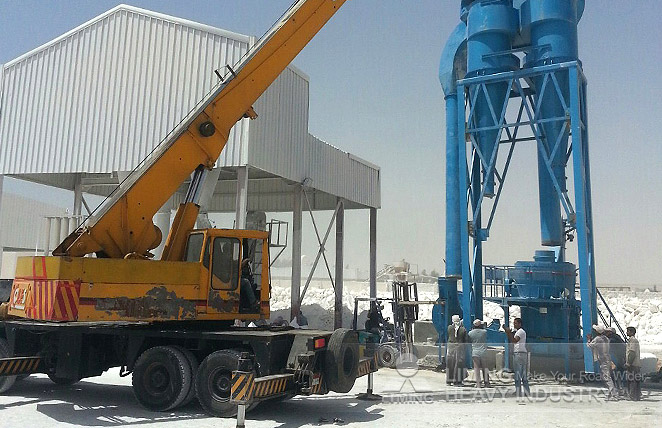 10-16tph MW125 grinding mill for calcium carbonate in Saudi Arabia