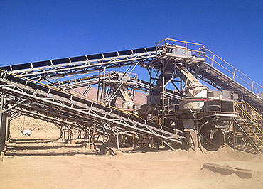 <b>300-400tph Sand aggregate production line In Chile</b>