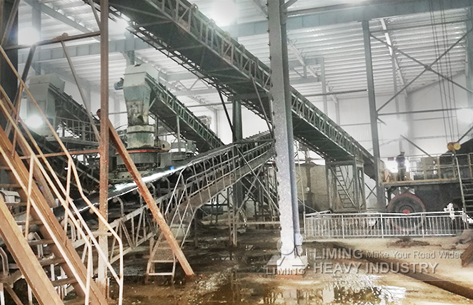 180tph river stone sand making production line in Anhui, China