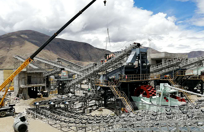 500tph river stone EPC crushing project in Lhasa, China