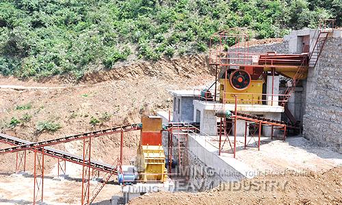 Silver ore beneficiation plant
