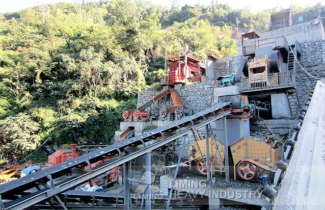120 t/h river stone sand making line in Ulan-Ude, Russia