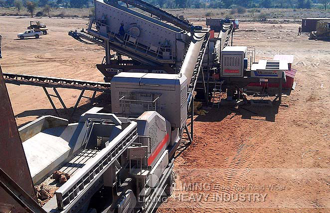 80-100TPH Granite Mobile Crushing Plant in South Africa