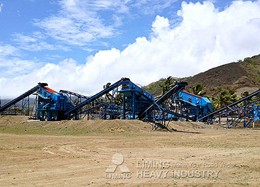 The Working Site of 50TPH Crushing Plant In Fiji