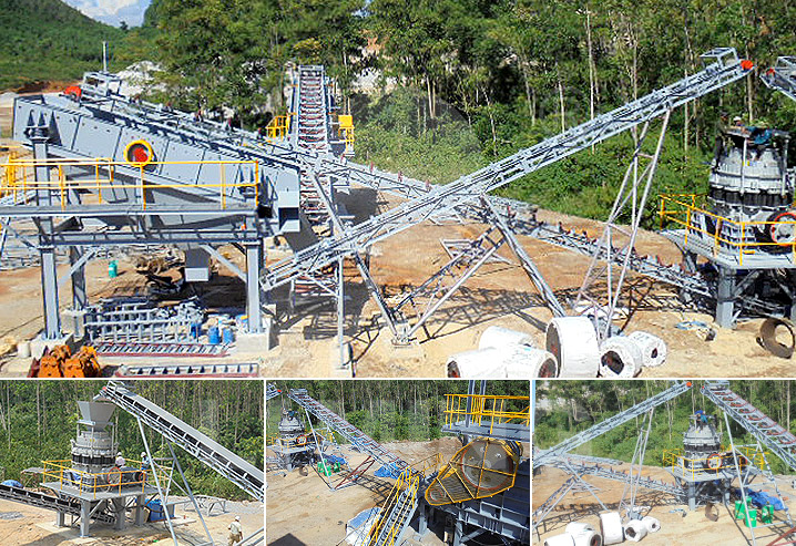 The Working Site of Aggregate Crushing Plant in Vietnam