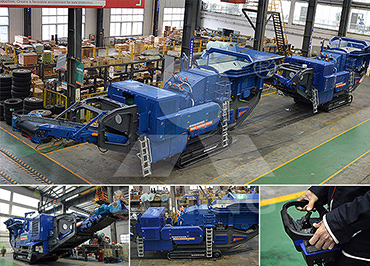 250-300tph coal gangue Mobile crushing line in Kurtz buss, Russia