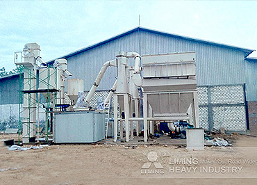 6-9 t/h limestone HGM800 Grinding Plant in Indonesia