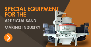 Special equipment for the artificial sand making industry