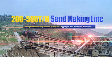 200-500T/H Sand Making Line, Liming Heavy Industry ensures quality of aggregate with advanced machine