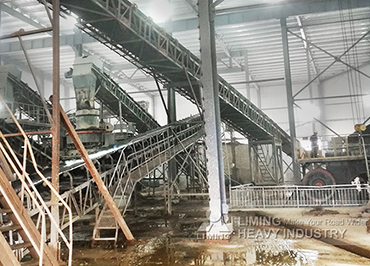 300tph river stone sand making production line in Anhui, China