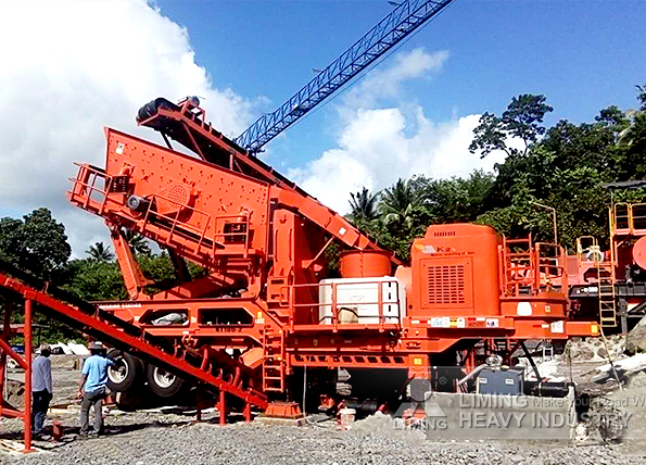 100tph volcanic rock mobile crushing line in Philippines