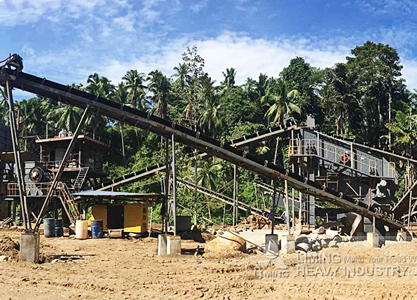 300tph rock river crushing line in Maigo, Philippines