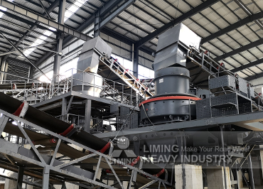 300tph river stone sand making line in Anhui, China