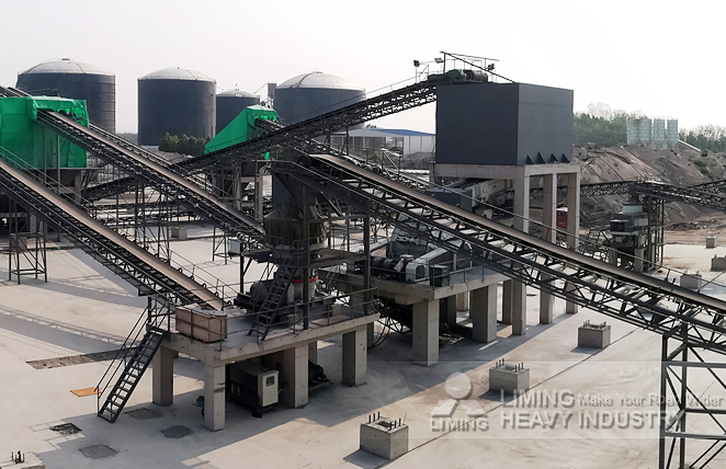 500tph limestone crushing line in Shandong, China