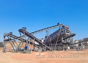 Basalt crushing mobile crusher plant for concrete in La Chorrera, Panama