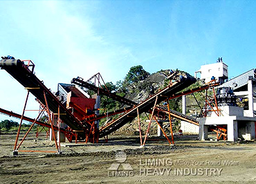 150 TPH rock crushing plant in