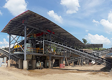 250TPH river stone sand crushing line in Jamaica