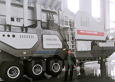 80-120tph river stone mobile crushing plant in Kirghizia