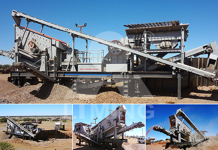The worksite of 30-50tph diamond waste Mobile crushing line in South Africa