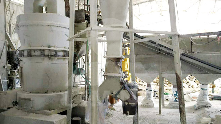The worksite of 4TPH Calcium Carbonate Grinding Plant TGM 100 In Colombia