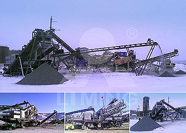 50-80tph basalt Mobile crushing line in Venezuela