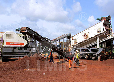250tph iron ore mobile crushing plant in Zambia