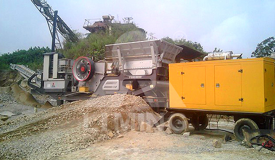The worksite of 100-150TPH mobile STONE CRUSHING PLANT