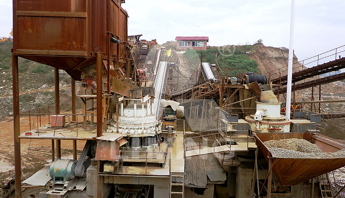 The worksite of 120-180TPH STONE CRUSHING PLANT