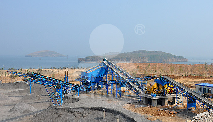 The worksite of 250-300TPH STONE CRUSHING PLANT