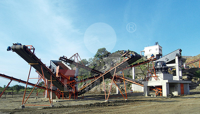 The worksite of 80-100TPH STONE CRUSHING PLANT